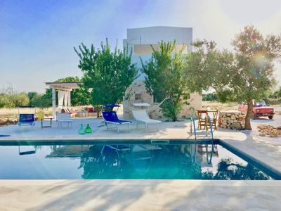 Photo for Villa 80 m2 with private pool surrounded by ancient olive trees of Puglia