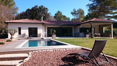 Photo for contemporary villa with pool in a park near Montpellier