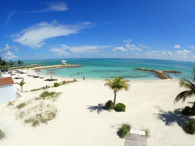Photo for Bahama Breeze - Beach Front - Private Garden - White Sand