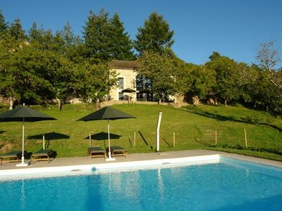 Photo for Beautiful modern stone-built  house & pool - overlooking unspoiled Viaur valley