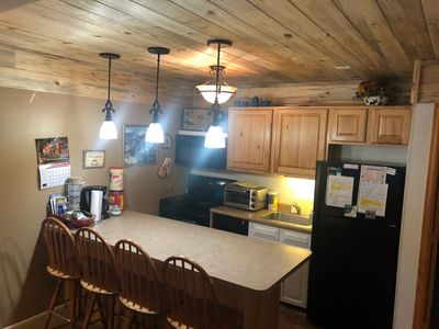Newly remodeled kitchen with Colorado's Pine beetle wood!