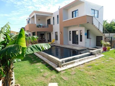 Photo for P'tit Komfor Villa in Albion west coast with private pool and 250m from beach