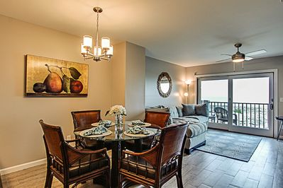 Open floor plan. Enjoy the view! Beautifully furnished!