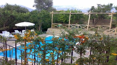Photo for Beautiful Lusal (F) apartment at complex with shared-garden/pool close Sorrento