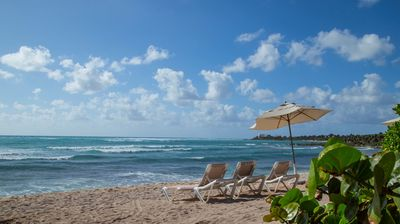 Photo for Oceanfront Villa with Patio! Nesting Turtles, Pool Access + Restaurant On-Site