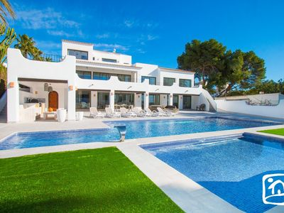 Photo for 7 bedroom Villa, sleeps 14 in Moraira with Pool, Air Con and WiFi