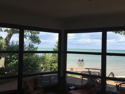 Photo for Magnificent Beach House on Sand Point, Caseville, Michigan