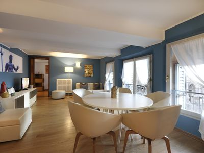 Photo for Asinelli apartment in Bologna with WiFi, integrated air conditioning, private roof terrace & lift.