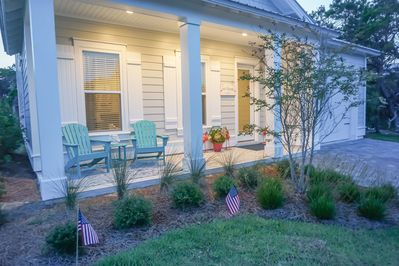 Relax on the Covered Front Porch with Seating