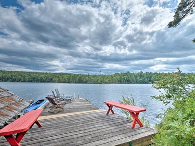 Photo for Raquette Lake Island Cabins w/Dock, Kayak+Fire Pit