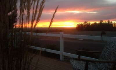 Sunset from the front deck.