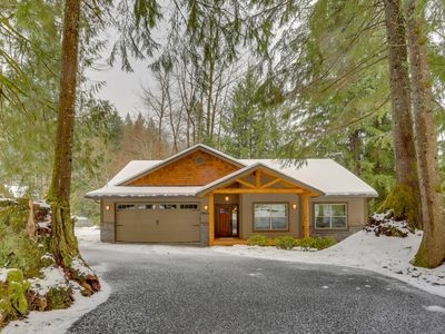 Photo for Sparkling home w/ hot tub, firepit & deck - next door to golf, near ski slopes!