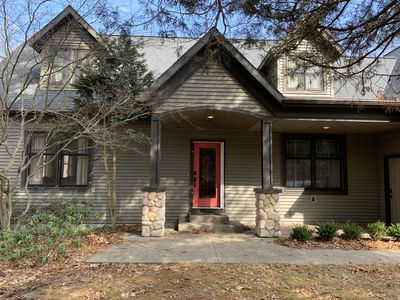 Photo for Spacious Wooded Retreat next to the Golf Course