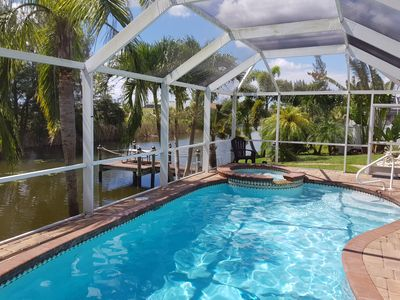 Photo for New luxury villa - stunning sunsets by the pool / spa included