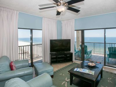 Photo for PH Panoramic Gulf-Front Views 3/3, Slps 6, Blcny, W/D, Pool/Sauna, Free Activities-The Palms 1001