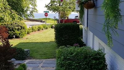 Chesapeake Bay Views from Garden.  Crow's Nest Cottage, (703) 994-0979.