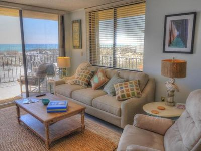 Photo for 2br, 2 Bth, Gulf-front, sleeps 4-6, new furniture in living room and on balcony.