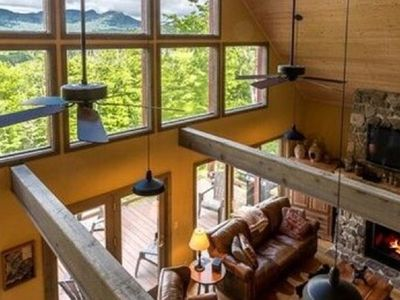 Photo for Upscale Sugar Mtn Home w/Views, Hot Tub, Waterfall, Privacy, Ping-Pong