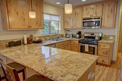 Modern appliances and granite countertops for your cooking pleasure