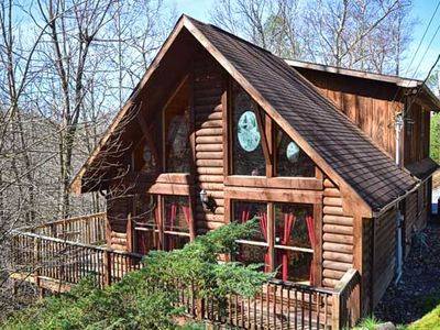 Photo for Bear Mountain Hideaway cabin in Pigeon Forge with Pool Table, Hot Tub