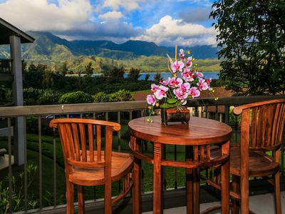 Photo for Remodeled,air-conditioned, Hanalei Bay view, world class resort setting!