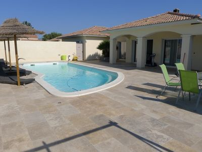 Photo for Aleria Recent villa T4 of 140m comfortable with private heated pool