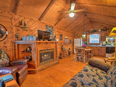 Photo for NEW! Dreamy Dahlonega Cabin on Pond w/ Hot Tub!