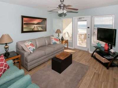 Photo for Gulf-Front w/Balcony, 2BR/2BA, Sleeps 6, W/D, WiFi, Comm. Amenities, Free Activities - Boardwalk 286