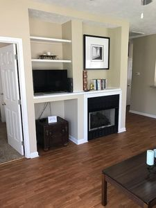 Fireplace and entertainment center