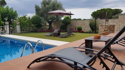 Photo for Holiday home in Vidreres with pool and private basket court