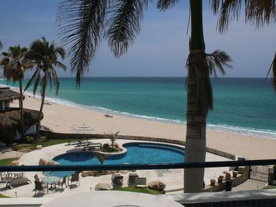 Photo for Top Floor Beachfront Condominium - Balcony Views