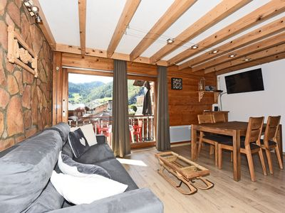 Photo for 350m from the ski lifts, parking, in the village of La Clusaz