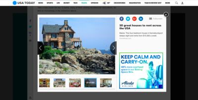 Photo for USA TODAY featured one of the best 50 houses to rent across the USA!