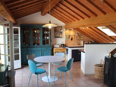 Photo for Stone village house  in a pretty Canal du Midi village - with great roof terrace