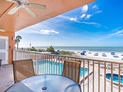 Photo for Free Perks Included!! ~**Just Steps from the Sand**~ Sand Castle II Beachfront Condo # 204