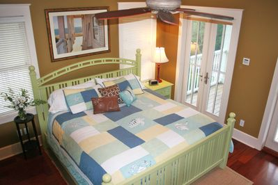 Master bedroom in main house. Bed size is King.