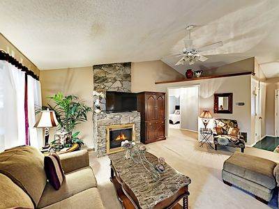 Living Area - Welcome to Lake Lure! This home is professionally managed by TurnKey Vacation Rentals.