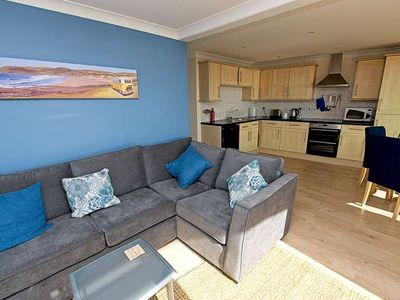 Photo for Sunny spacious 2 bed apartment close to village with fantastic seaview decking