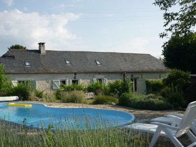 Photo for CHARMING RESTORED FARMHOUSE IN ORIGINAL STONE, PRIVATE GARDEN AND  POOL