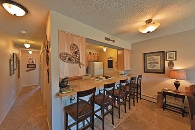 Meadow Ridge Court 7 Unit 6 - a SkyRun Winter Park Property - Updated Kitchen with 4 Bar Seats