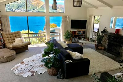 Lake front living area