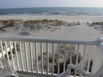 Photo for Direct Beachfront Duplex Home with Spectacular Views of Gulf Coast & White Sand!