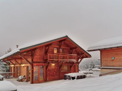 Photo for Chalet Lynx Chamonix les Houches 5 bedroom luxury Spacious jacuzzi,