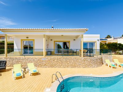 Photo for Luz - 3 Bedroom Private Villa With Sea View, Heated Private Pool and free WiFi