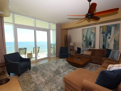 Photo for Turquoise C702-Beach Front w/Large Terrace & Hot Tub, Saltwater Lazy River!