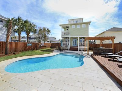 Photo for Beach Home with Private Pool & Four Bikes Included! Short Walk to Beach, Restaurants, and More!