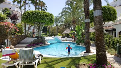 Photo for Penthouse in beachfront property, Elviria, Marbella