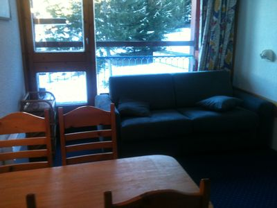Photo for Charming studio in Arcs 1800, at the foot of the slopes, in the heart of the village