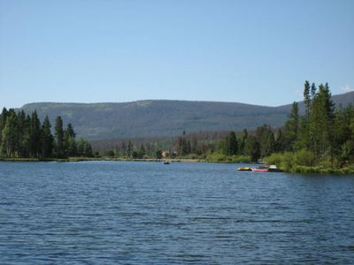 Photo for Charming And Cozy Two Bedroom Cabin Right On Sun Valley Lake! Private Dock!