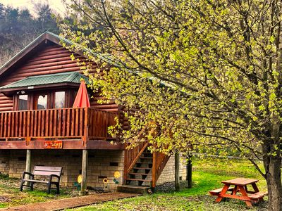 Photo for **MAY SPECIALS**-Charming One bedroom LOG CABIN***RIVER ACCESS***FREE WIFI